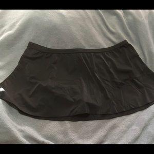 NWOT Plus Size Black Skirtini Swimsuit Bottom
